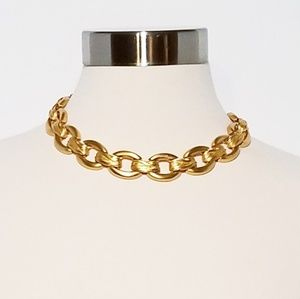 Ann Klein Matte Gold Vintage Link Necklace